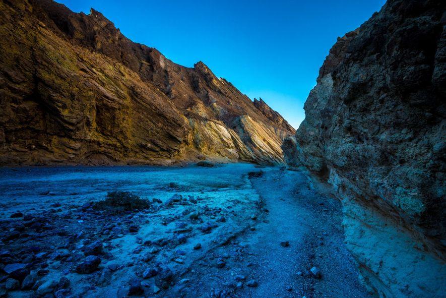 Die vielen Schluchten des Death Valleys – darunter auch der hier gezeigte Golden Canyon – dienten ...
