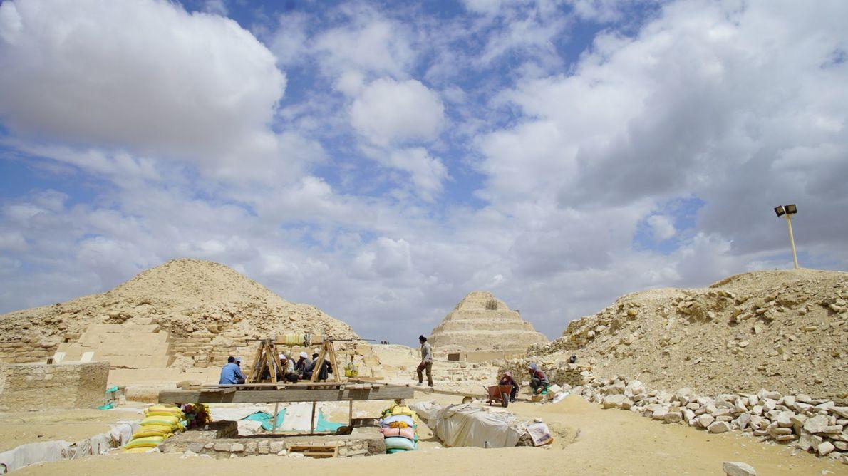 Grabungsstätte bei Sakkara