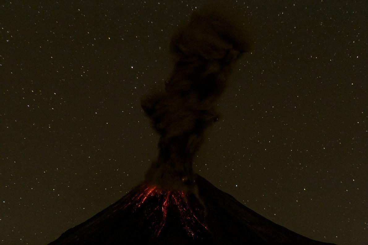 Bilderreihe Vulkanausbruch