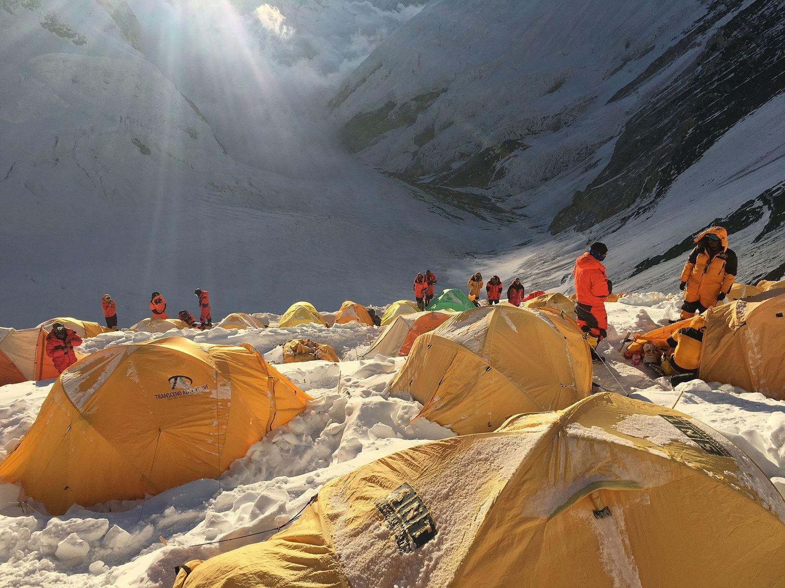 Camp 4 an der Südroute des Mount Everest