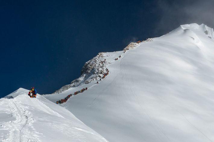 Route zum Gipfel des Mount Everest