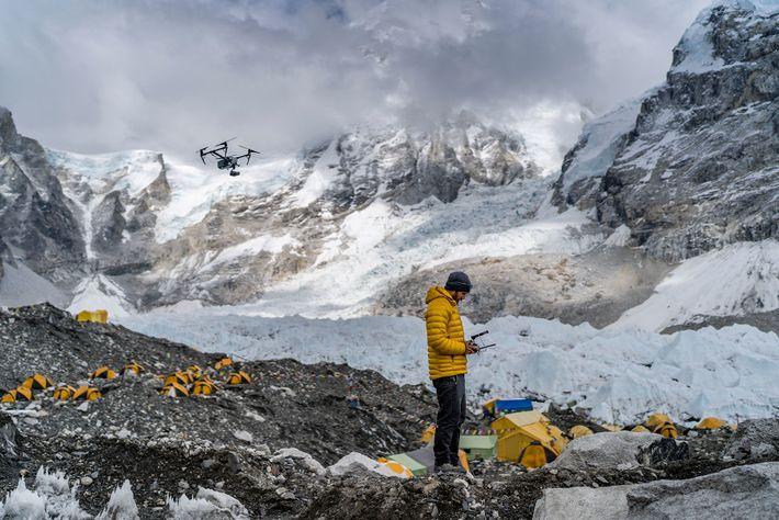 Chris Millbern im Mount-Everest-Basislager