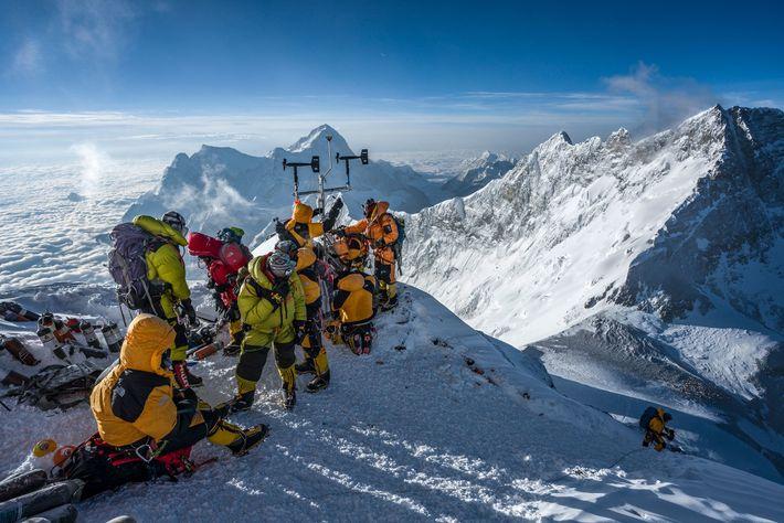 Forscher auf dem Everest
