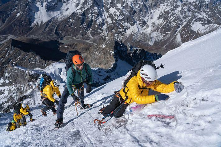 Auf dem Weg zum Gipfel von Lobuche