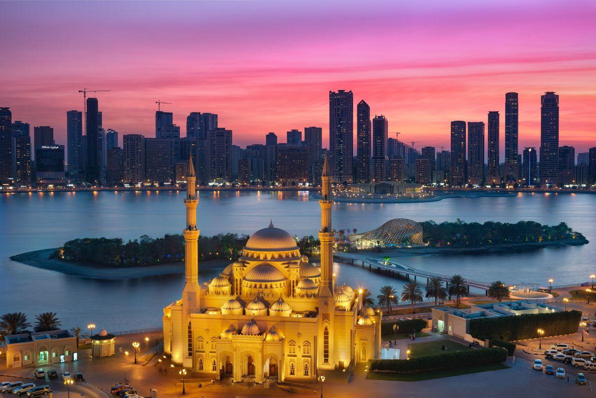 Sonnenuntergang in Sharjah
