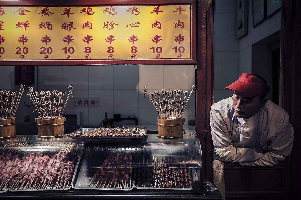 Snacks in Peking: Skorpione und Larven