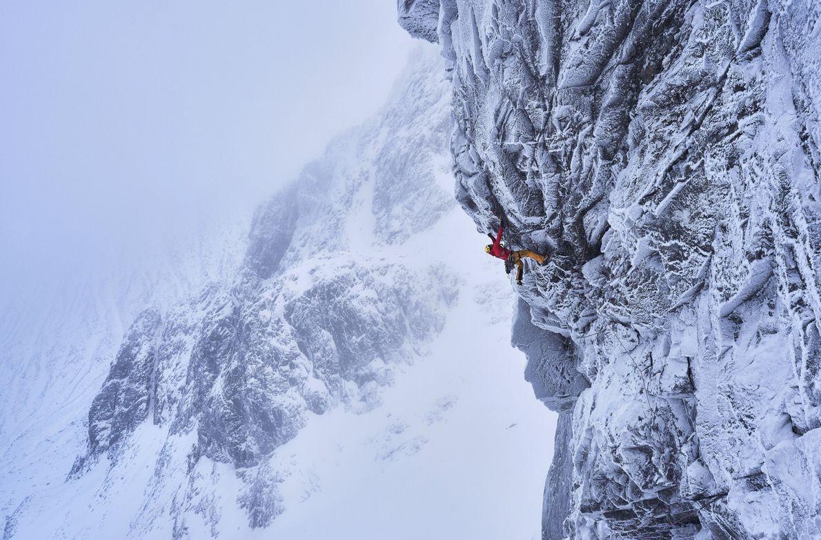 Kletterer auf dem Ben Nevis