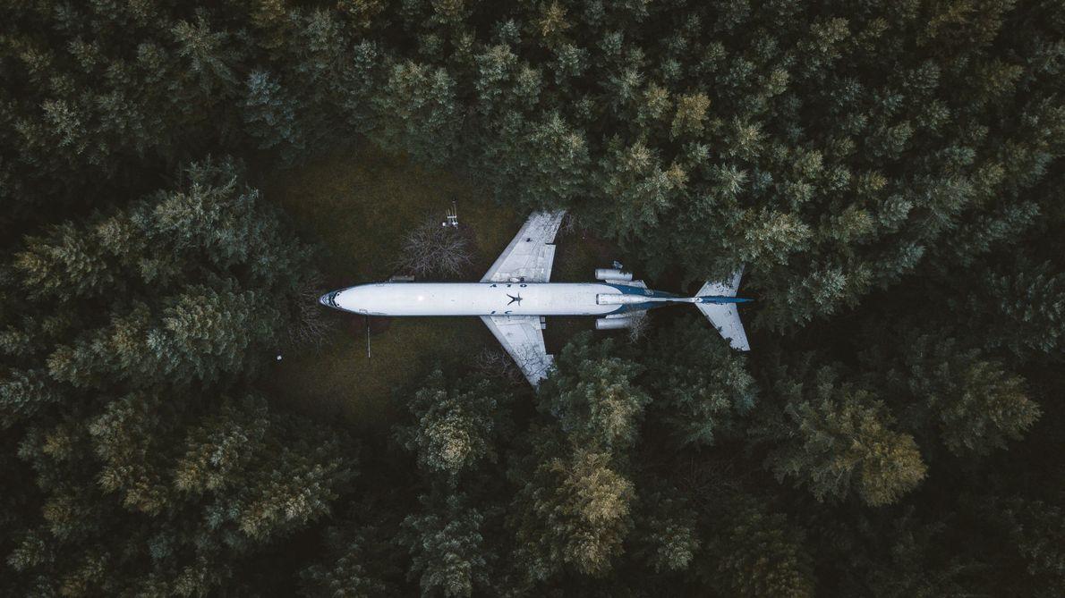Daheim im Flugzeug