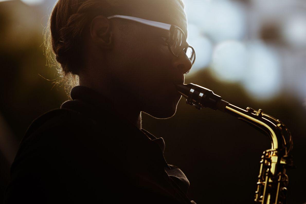 Goldenes Saxofon