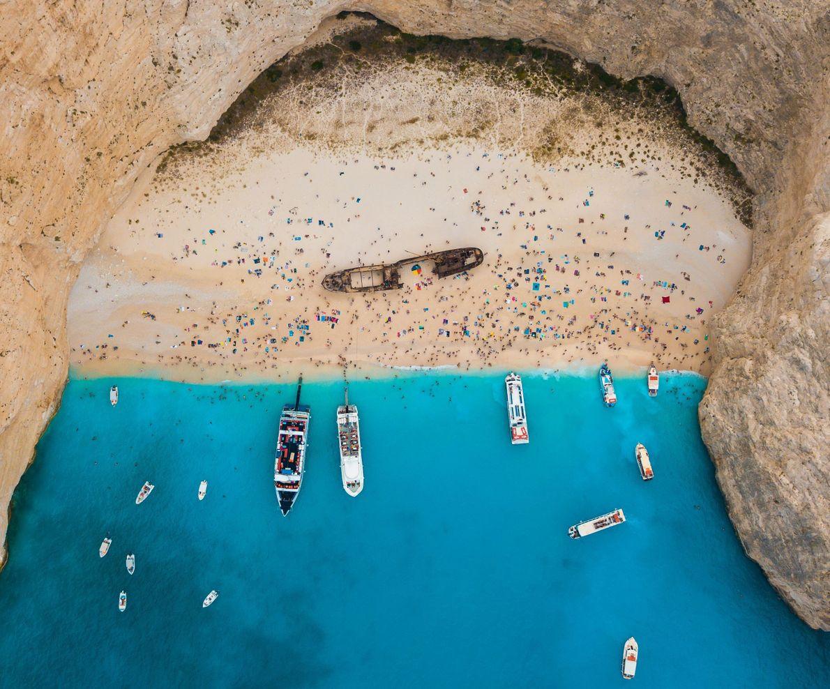 Schiffbruch am Strand