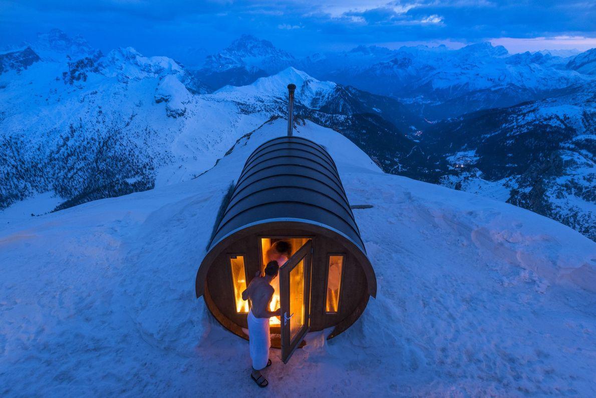 Sauna in den Dolomiten