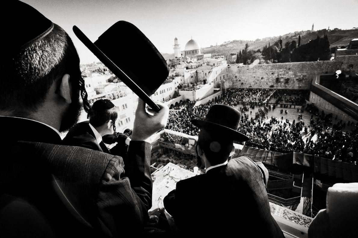 Birkat ha-Chama an der Klagemauer in Jerusalem