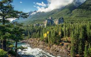 Blick auf das Fairmont Banff Springs Hotel.
