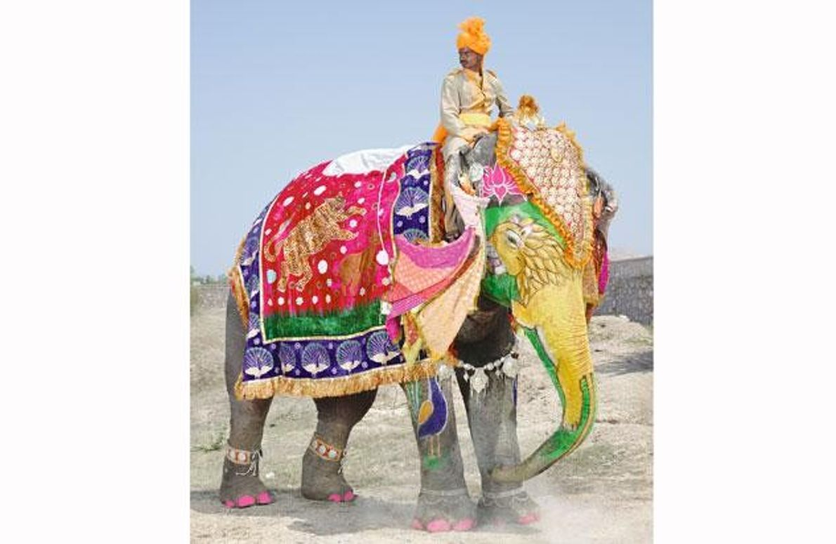 Farbiger Hindu-Brauch