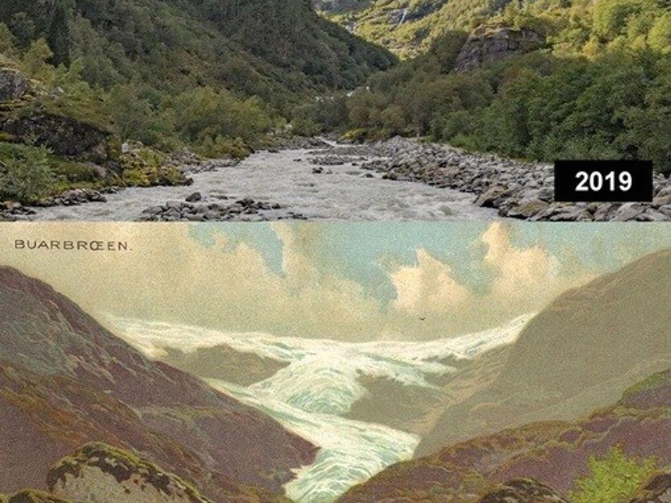Gletscherschmelze in Europa: Die Vorher-Nachher-Bilder des Klimawandels von 1880 bis heute