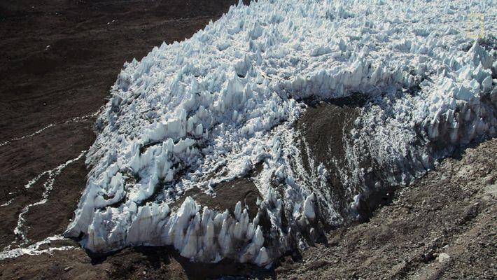 Flug über das Eis