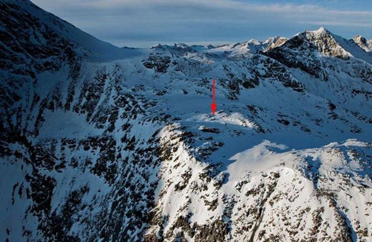 Fundstelle in den Ötztaler Alpen