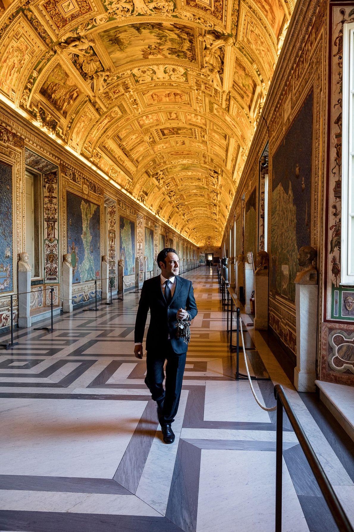 Die 40 Kartenfresken von Italien in der Galerie der Landkarten wurden von Papst Gregor XIII. in ...