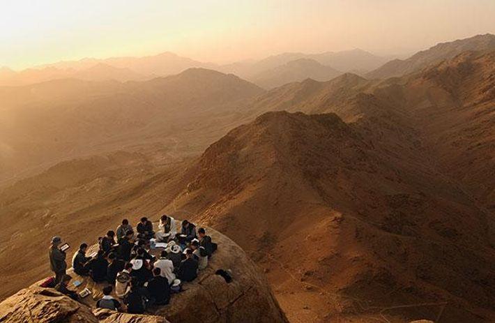 Gebet auf dem Berg Sinai