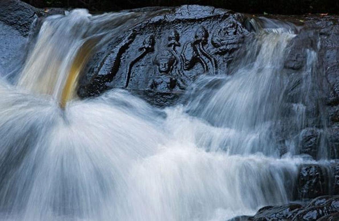 Gemeisselte Hindugötter