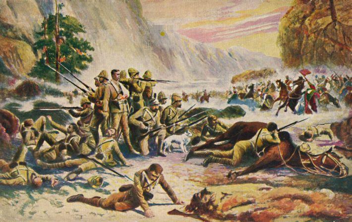 Im zweiten Anglo-Afghanischen Krieg schlagen die afghanischen Streitkräfte in der Schlacht von Maiwand am 27. Juli ...