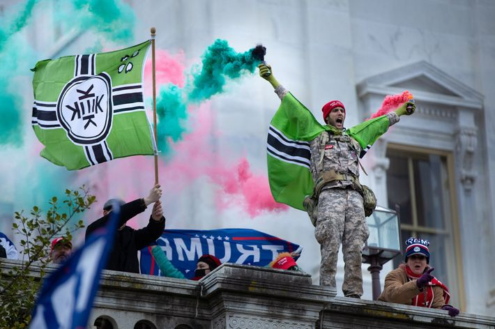 The flag of the imaginary nation of Kekistan has white supremacist associations.