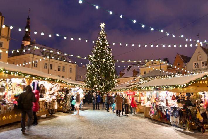 Weihnachtsmarkt in Tallinn