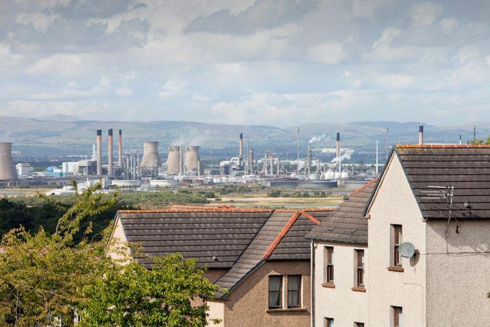 Die Ethan-Verarbeitungsanlage in Grangemouth ist eine von vielen, die von Ethangas aus den USA profitieren, das ...