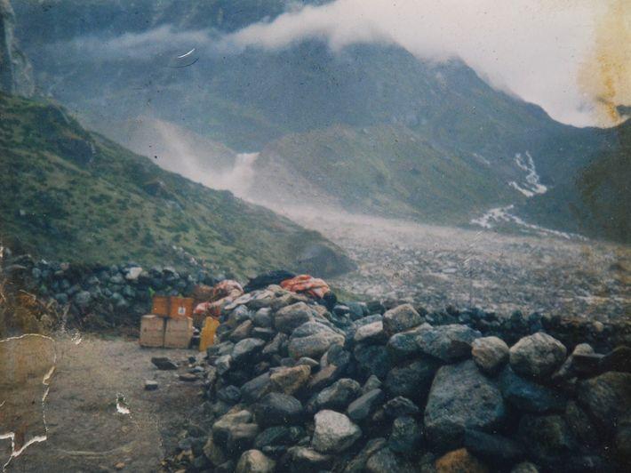 Durchbruch eines Gletschersees im September 1988