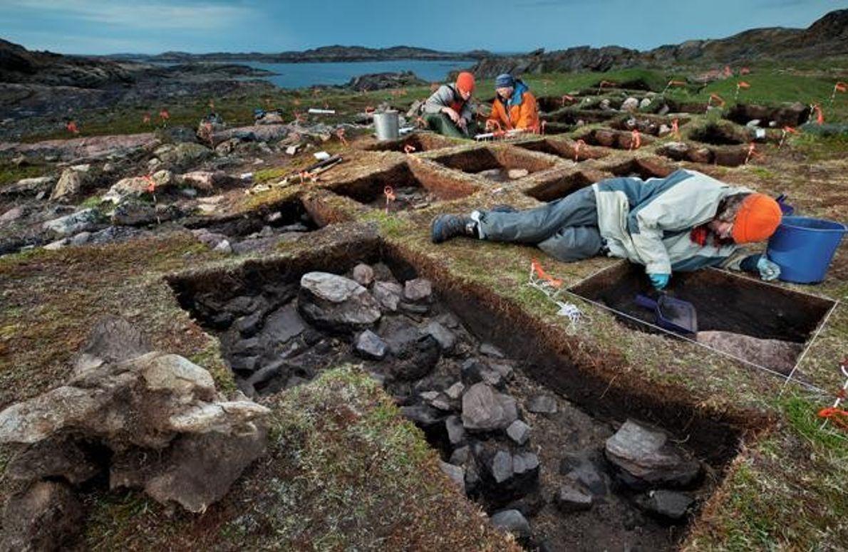 Grabungsstätte auf Baffin Island
