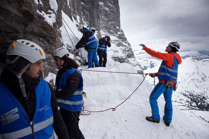 Bauzugang Jungfraubahn