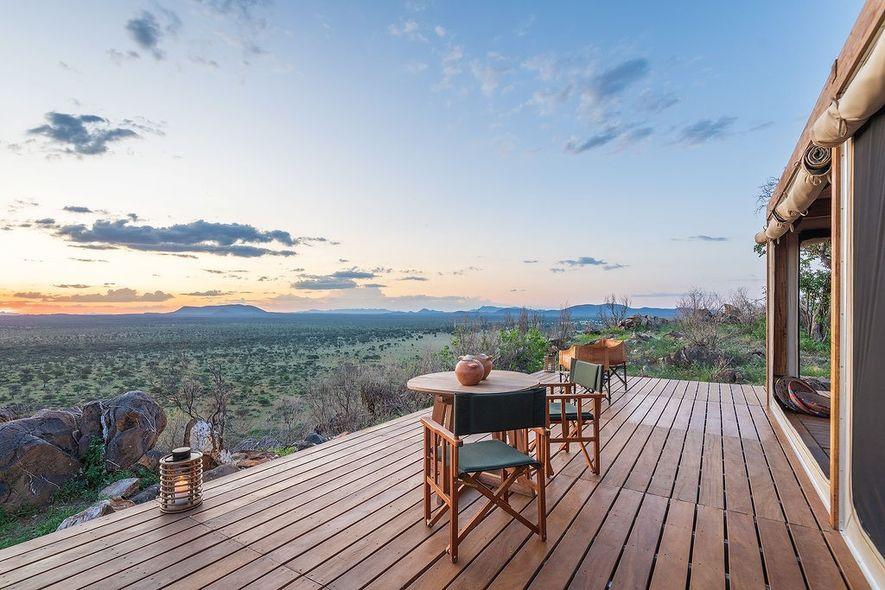 Habitas Afrika Blick in die Steppe