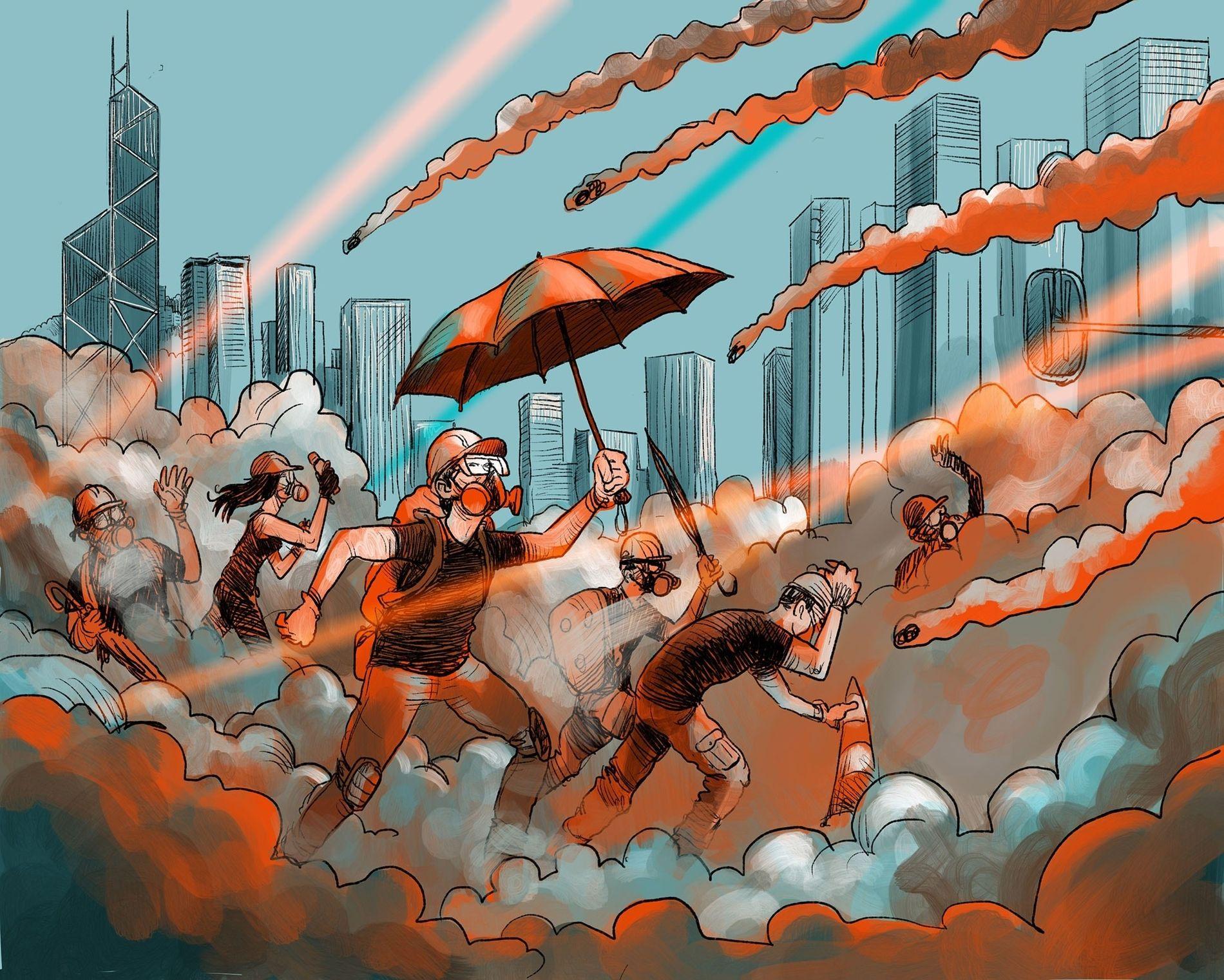 Hongkong befindet sich fest im Griff pro-demokratischer Demonstranten und ihren Auseinandersetzungen mit der Polizei. Der Sonderstatus ...