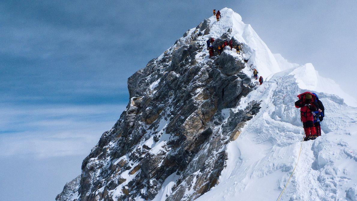 HILLARY STEP AUF DEM MOUNT EVEREST, NEPAL