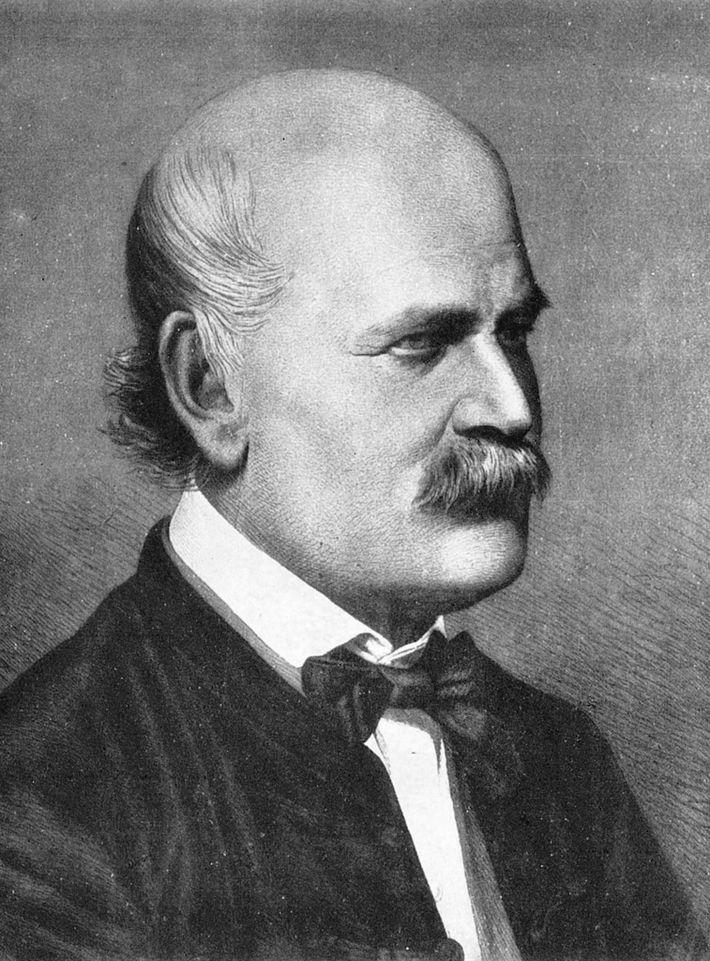 Der Arzt Ignaz Semmelweis leistete auf dem Gebiet der Händehygiene Pionierarbeit und gab sich unter seinen ...