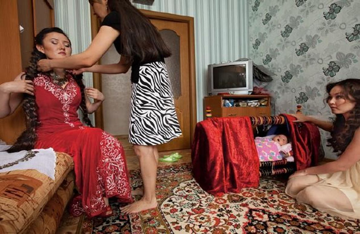 Hochzeitsvorbereitungen in Astana