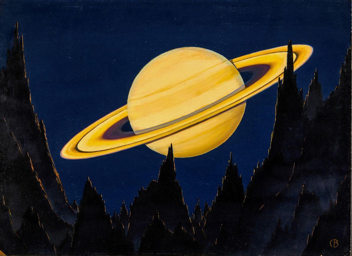 Dieses Bild zeigt den Saturn und seine berühmten Ringe aus der Perspektive eines Asteroiden in 800.000 ...