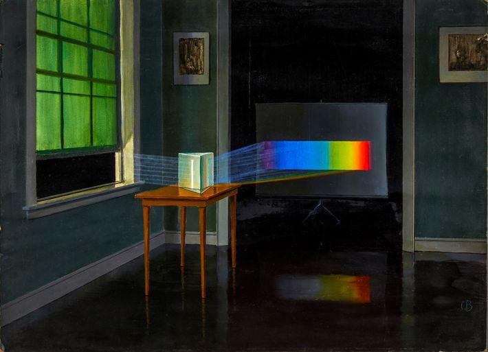 """""""Das Licht, das hier in seine Spektralfarben gebrochen gezeigt wird, hat uns fast alles beigebracht, was ..."""