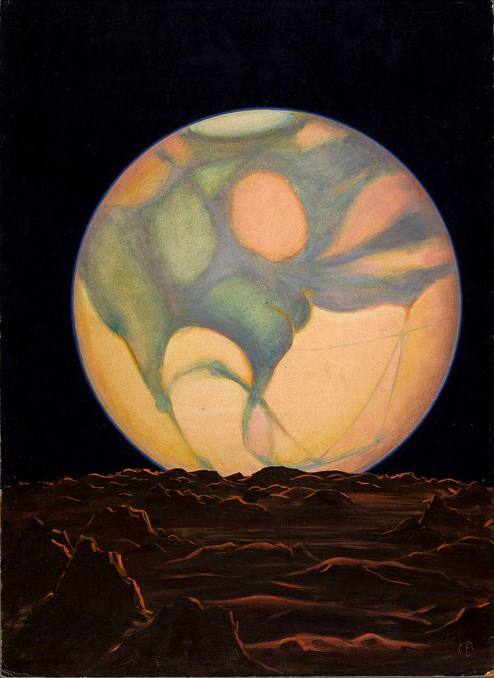 """Laut dem Bildtext dieser Illustration, die 1939 abgedruckt wurde, könnte """"das einzige Leben jenseits der Erde ..."""