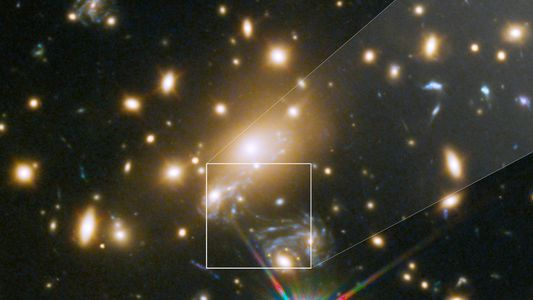 Gravitationslinseneffekt: Entferntester Stern wird sichtbar