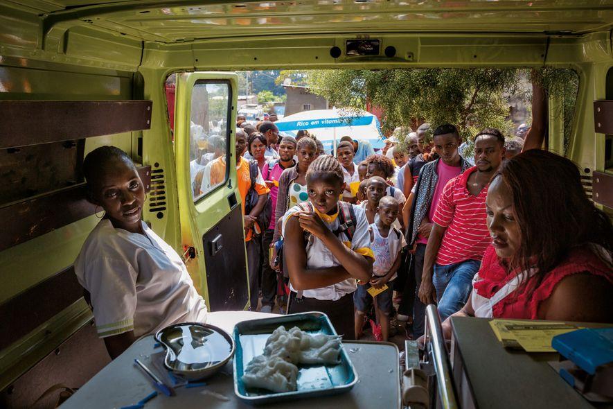Impfen Lieferwagen Kongo