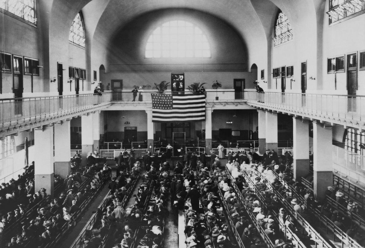 Registerraum auf Ellis Island