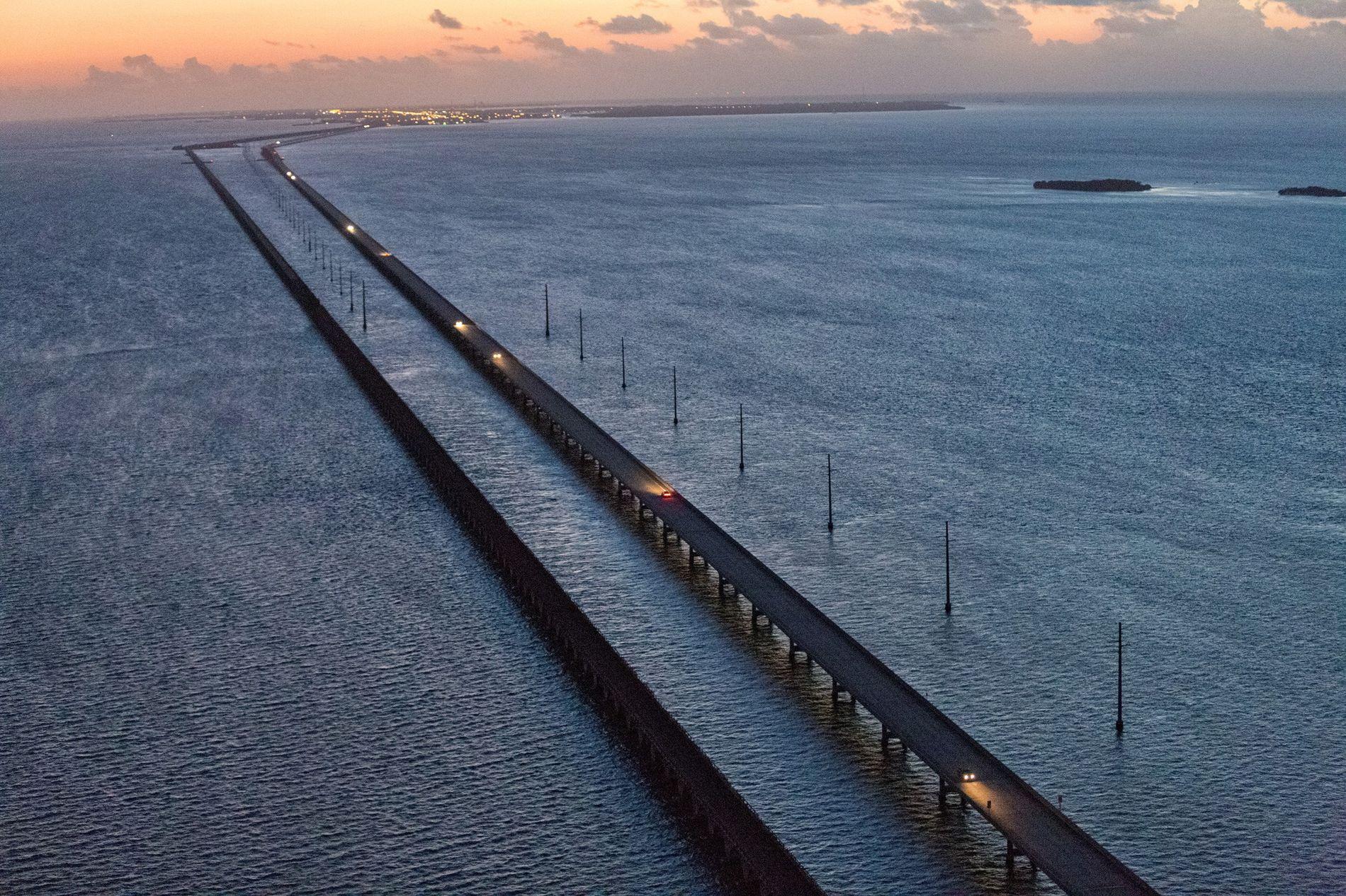 Die Six Mile Bridge von Marathon Key nach Key West könnte ein Blick in die Zukunft ...