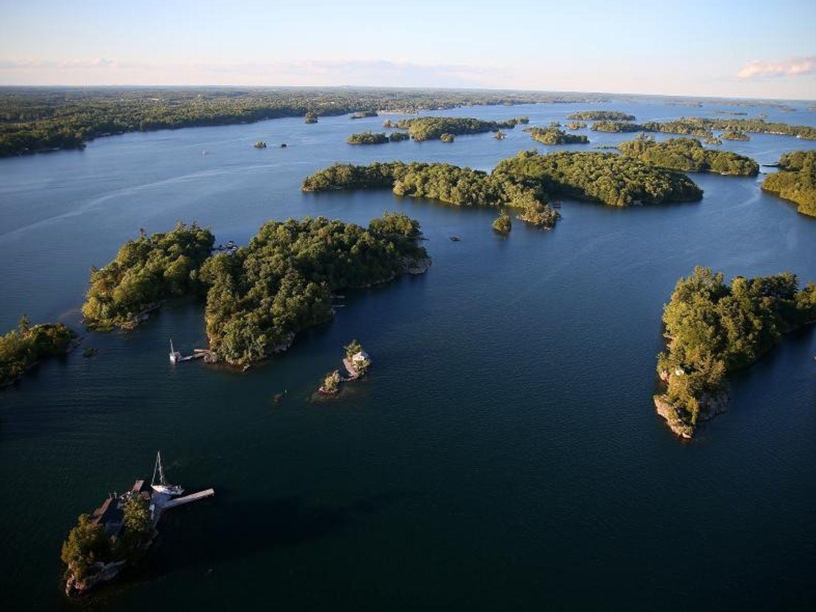 Die Thousand Islands Region in Ontario.