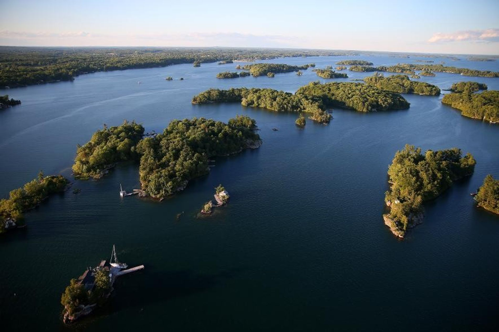 Die Thousand Islands Region in Ontario.