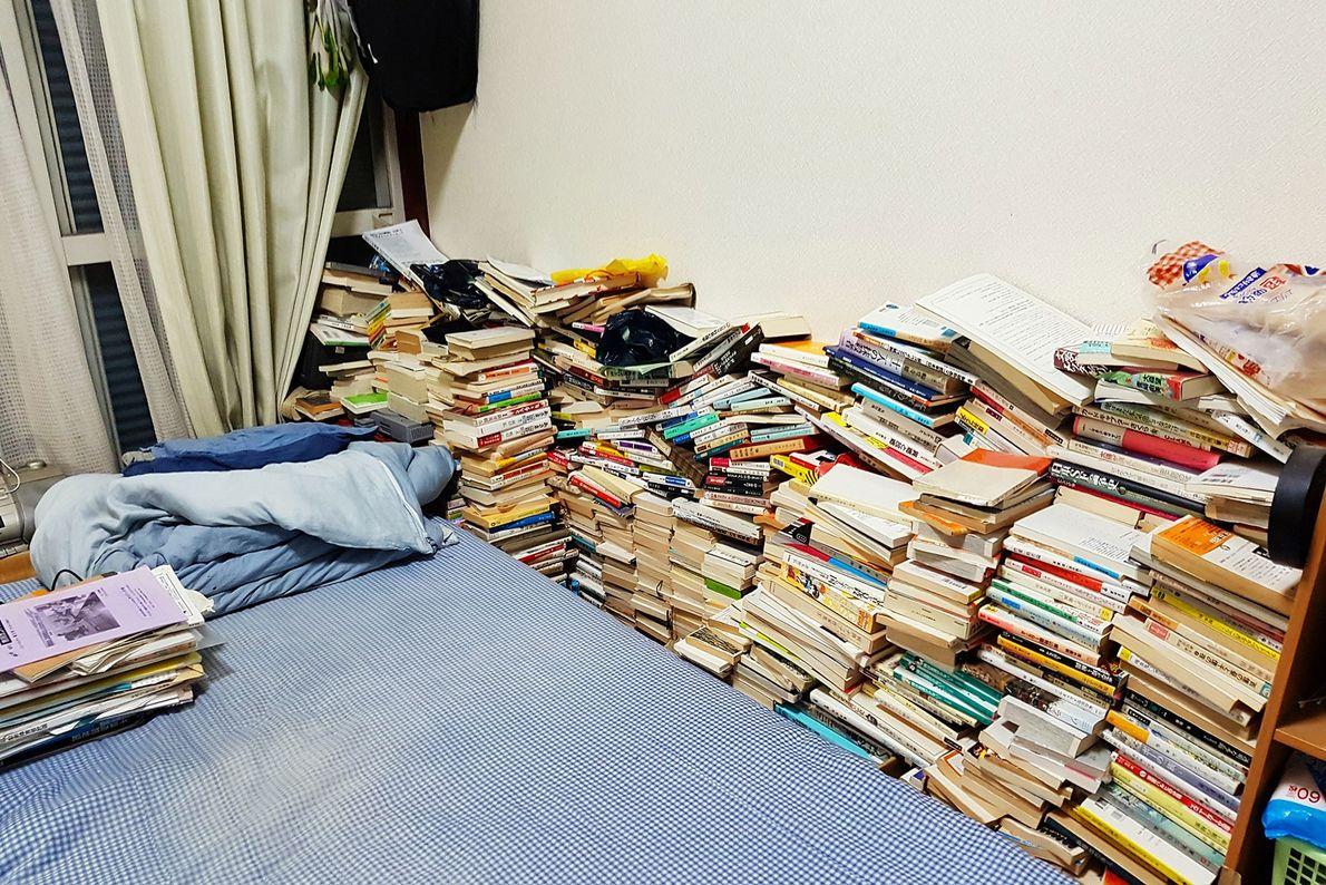 """Das ist das Zimmer von Shoku Uibori, 44, der seit acht Jahren ein Hikikomori ist. """"Er ..."""