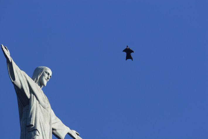 Jeb Corliss in Rio de Janeiro, Brasilien