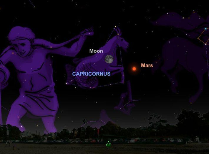 Der leuchtend helle Mars wird am 27. Juli so gut zu sehen sein wie seit 2003 ...