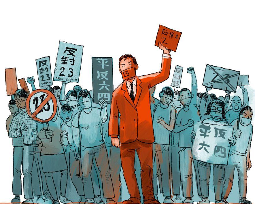 JULI 2003: Etwa eine halbe Million Menschen gehen auf die Straße, um gegen Artikel 23 zu ...