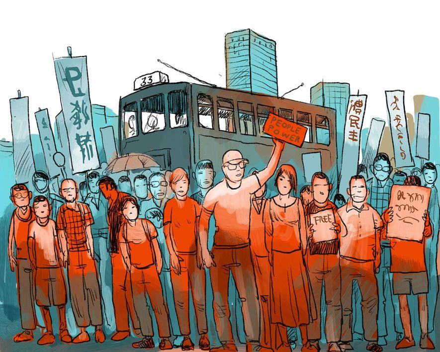 JULI 2006: Zehntausende Menschen beteiligen sich an pro-demokratischen Protestmärschen, die fortan jeden Juli erneut stattfinden. Sie ...